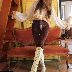 🌙Handmade Vintage Penny Lane Embroidered Blouse